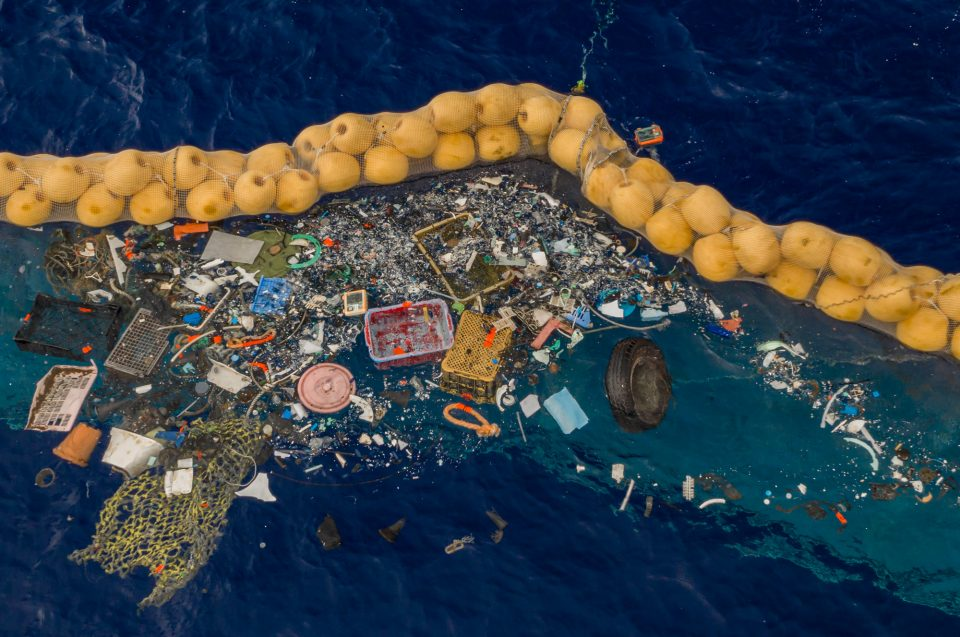 Plastic Collected by The Ocean Cleanup