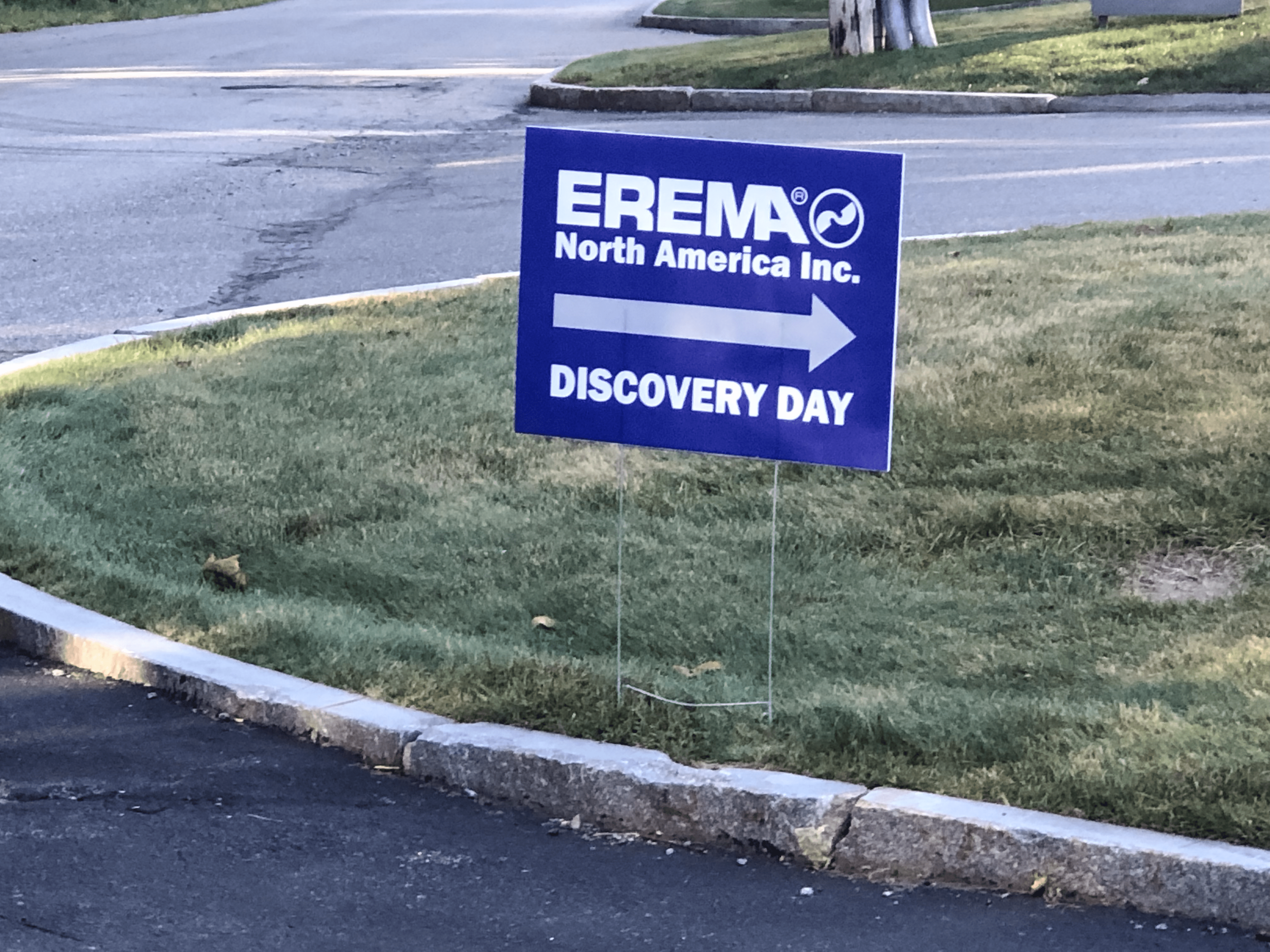 EREMA Discovery Day Opening Sign