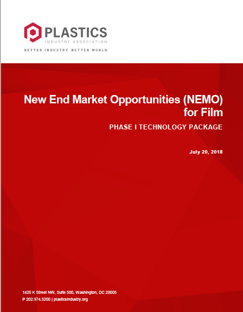 Plastics Film & Bag Recycling - New End Market Opportunities (NEMO) for Film PHASE I TECHNOLOGY PACKAGE