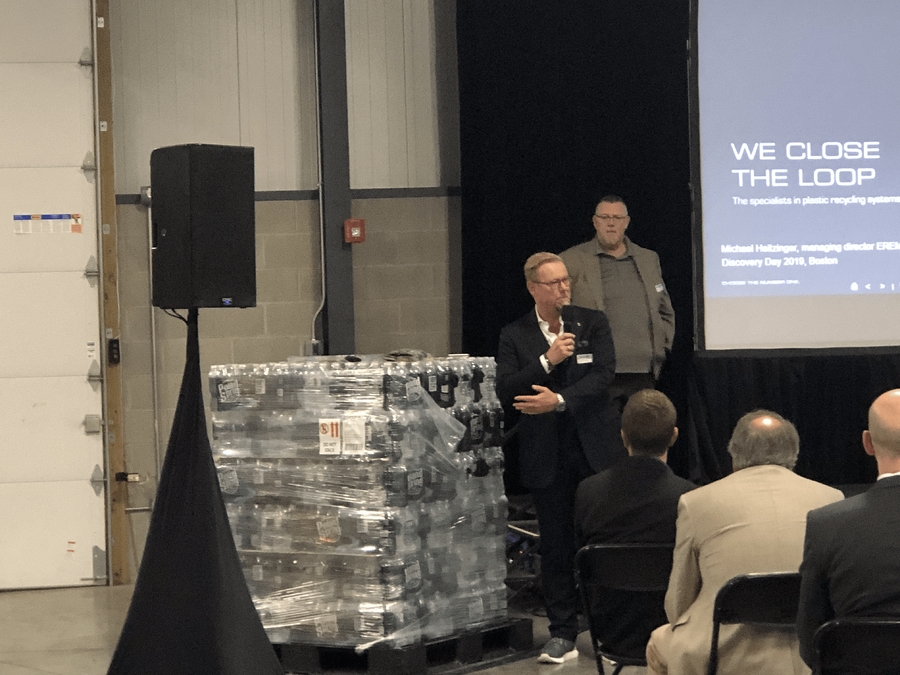 PET Bottle Pallet Deconstruction_ Advanced PET Recycling Technology Example