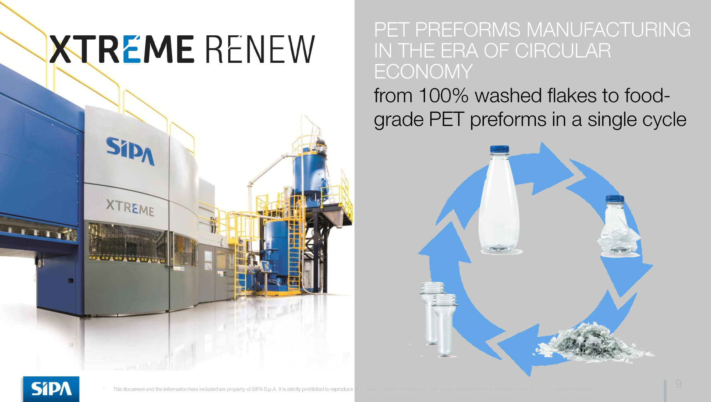 Industrial Plastic Recycling Technology Example PET